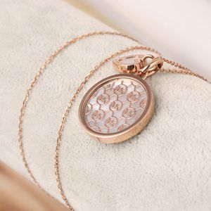 Michael Kors Round Shell Pendant Necklace